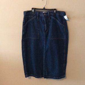J. Crew Trademark Denim Skirt 32